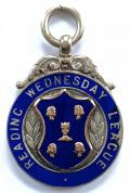 Reading Wednesday League 1933 silver football badge