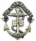 The Boys Brigade officers field service cap badge 1899 -1926.
