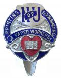National Union of Printing Bookbinding & Paper Workers NUPBPW badge.