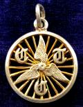 Cyclists Touring Club winged cycle wheel CTC miniature silver watch fob badge.