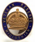 Veteran Reserve Midlothian Scottish home front badge.