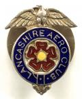 Lancashire Aero Club 1938 hallmarked silver membership badge.