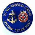 Boys Brigade 1st Wellingborough Company 1987 centenary badge