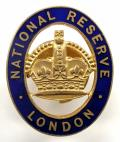 WW1 National Reserve London officially numbered badge.