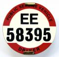 PSV Bus Driver East Midland license thick print badge