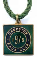 1975 Chepstow Race Club horse racing badge