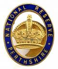 WW1 National Reserve Perthshire Scottish home front badge