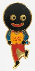 Robertson Golly Skater Pro Pat design badge c1960s
