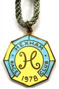 1978 Hexham Park horse racing club badge