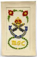 WW1 Machine Gun Corps silk embroidered postcard