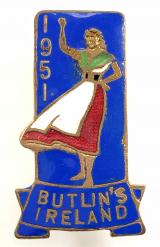 Butlins 1951 Mosney Ireland holiday camp badge