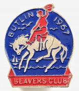 Butlins 1967 Beavers Club rodeo rider cowboy badge