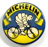 Michelin Man cycle tyre vintage advertising tin button badge