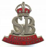 WW2 Emergency Hospital Scheme stretcher bearer badge