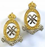 Territorial Army Nursing Service TANS silver and gilt collar badges