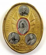 Boer War Generals Hand in Hand For The Empire patriotic photo frame