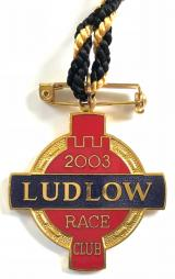 2003 Ludlow Racecourse horse racing club badge