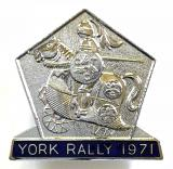 Cyclists Touring Club 1971 CTC York rally badge