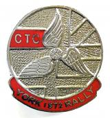 Cyclists Touring Club 1972 CTC York rally badge
