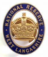 WW1 National Reserve West Lancashire home front badge