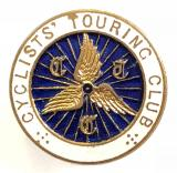 Cyclists Touring Club CTC cycle wheel membership badge