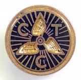 Cyclists Touring Club winged cycle wheel CTC membership badge