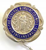 General Nursing Council SRN Registered Fever Nurse 1931 silver badge