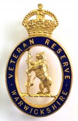 Veteran Reserve Warwickshire home front badge