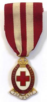 British Red Cross Society medal of merit badge