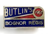 Butlins 1967 Bognor Regis holiday camp signpost badge