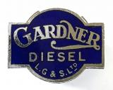 Gardner Diesel bus and lorry engines promotional lapel badge
