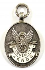 Bournemouth Arrow Cycling Club 1961 silver prize medal fob