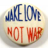 Campaign for Nuclear Disarmament Make Love Not War badge
