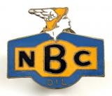 National Benzole Company NBC motor oil advertising badge circa 1930's
