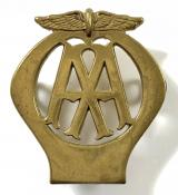 Automobile Association motorist breakdown AA patrolman's cap badge