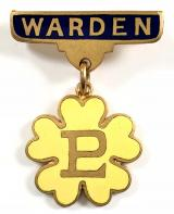 Primrose League warden badge