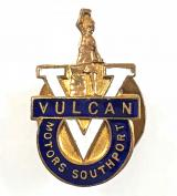 Vulcan Motor and Engineering Co Southport badge buses cars lorries