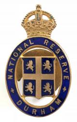 National Reserve Durham home front badge