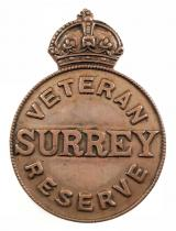 Veteran Reserve Surrey home front badge