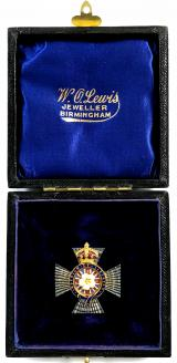 Primrose League Knights Imperial badge in presentation case