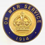 On War Service 1914 munition workers badge by Bliss Bros