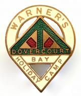Warner's Holiday Camp Dovercourt Bay enamel badge