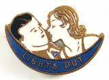 LIGHTS OUT song sheet music promotional badge