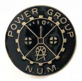 NUM Power Group 1984 -1985 National Union of Miners badge