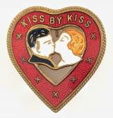 KISS BY KISS song sheet music promotional badge