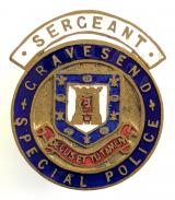 Gravesend special police sergeants badge