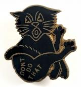 DON'T DO THAT song sheet music promotional black cat badge