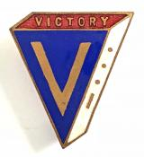 Winston Churchill morse code V for Victory patriotic badge by Stattons