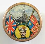 WW1 Lord Kitchener flags and battleship fundraisers badge