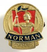 Norman Cycles advertising badge